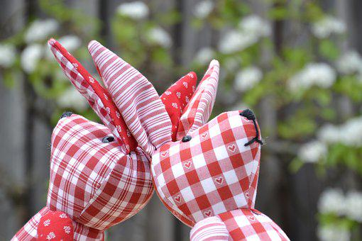 Rabbit Ears, Easter Bunny, Stuffed Bunny, Easter