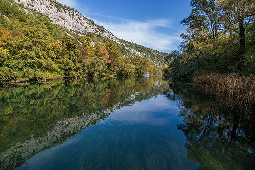 Croatia, Dalmatia, Europe, River, Clear, Nature