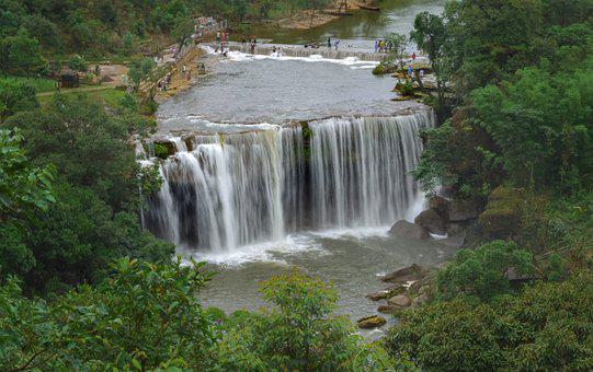 Waterfall, Nature, Landscape, Green, Falls, Outdoors