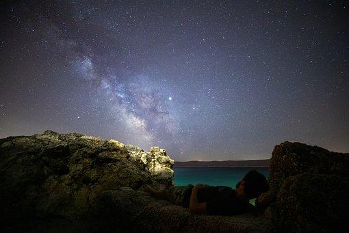 Milky Way, Stars, Evening, Space, Galaxy, Star, Sky