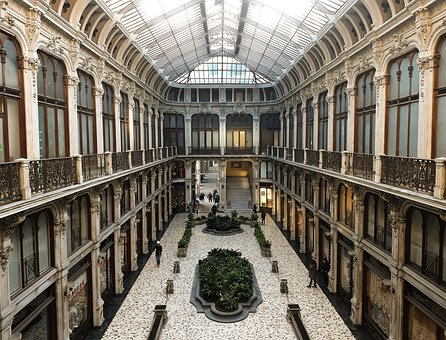 Turin, Gallery, Passage, Lichtspiel, City, Cinema