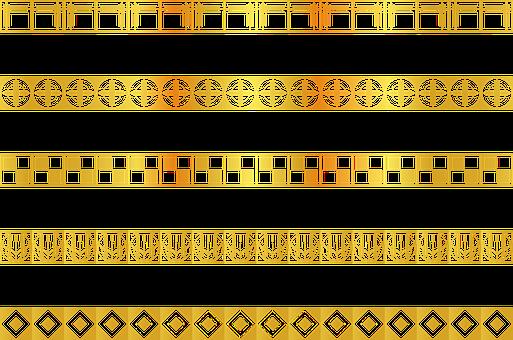 Gold Art Deco Border, Art Nouveau, Art Deco