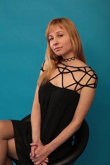 Portrait, Girl, Posture, Hands, Dress, Gothic