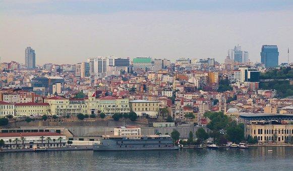 Estuary, Istanbul, Balat, Landscape, Marine, City