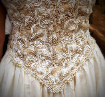 Bride, Dress, Gown, Ivory, Lace, Wedding, Woman