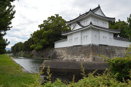 Kyoto, Castle, River, Moat, Japan, Classic, Tradition