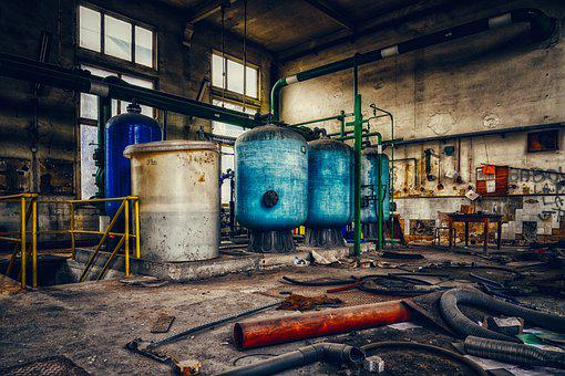 Hall, Factory, Kessle, Industry, Industrial Plant