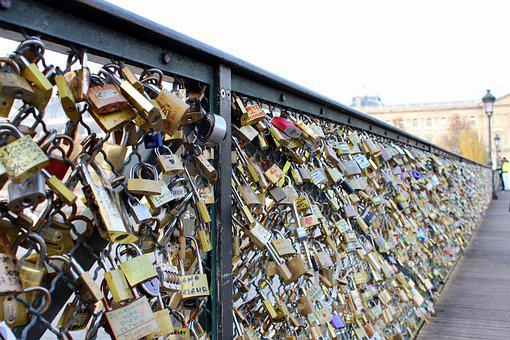Paris, Love Castle, Bridge, Love, Love Locks
