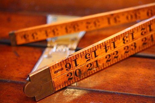 Ruler, Wooden Ruler, Folding Ruler, Measure, Wood
