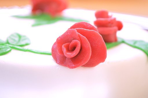 Rose, Marzipan, Cake, Decoration, Bake, Ornament