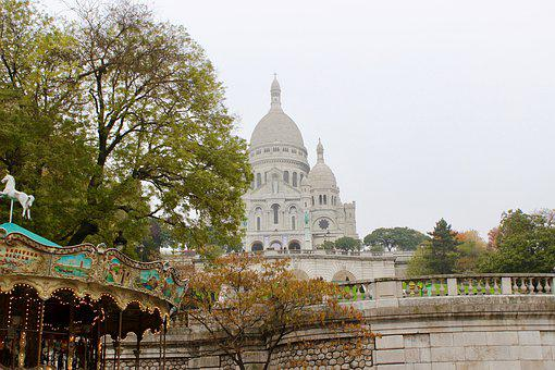 Paris, Sacré Coeur, France, Church, Architecture