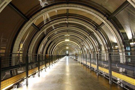 Tunnel, Paris, Centre-pompidou, France, Tourism