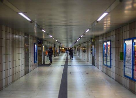 Railway Station, Concourse, Hall, Train