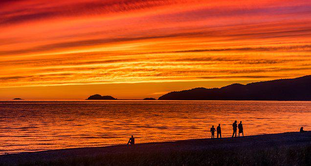 Sunset, Red Sky, Sky, Nature, Orange, Twilight, Dusk
