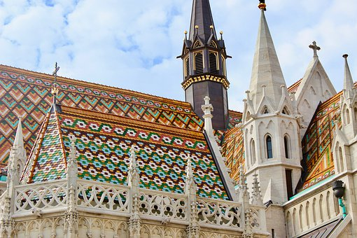 Budapest, Hungary, Danube, Architecture, Church, Roof
