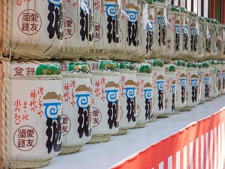 Japan, Festival, Liquor, Sake, Alignment, Traditional