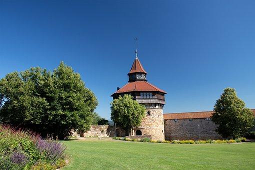 Castle, Esslingen, Tower, Castle Wall, Middle Ages