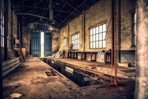Workshop, Hall, Pit, Lost Places, Urban, Empty
