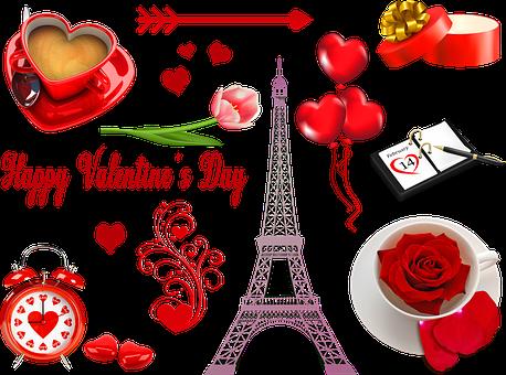 Valentine Clip Art, Eiffel Tower French