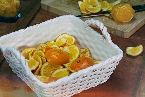 Orange, Vitamins, Diet, Vegan, Bio, Fruit, Ripe, Knife