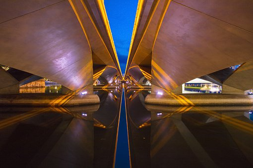 Blue, Abstract, Architecture, Water, Design, Color