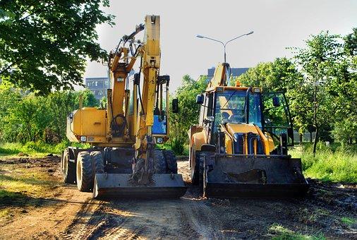 Bulldozer, Excavator, The Work Of The, Building, Way