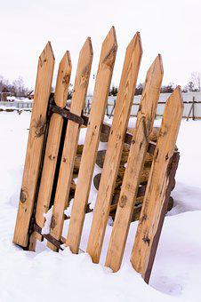 Fence, Winter, Wood, Snow, Cold, White, Decoration