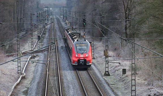 Train, Morning, Transport, Regional-express, Winter