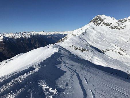 View From The Piz De Molinera, Alpine Route, Alps