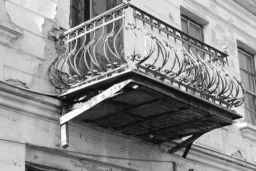 Balcony, Old Balcony, Rustic, Architecture, Building