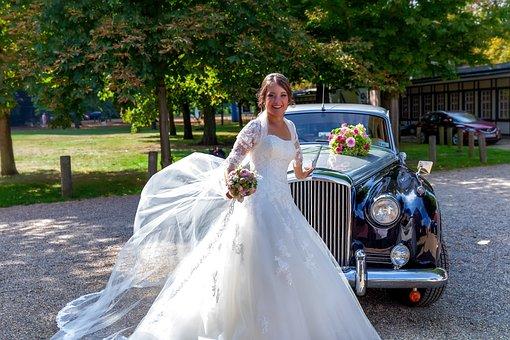 Wedding, Bride, Wedding Car, Bentley, Dress