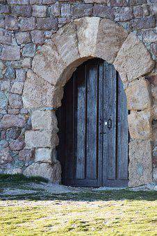 Door, Arc Merida, Soria, Castilla, Castle