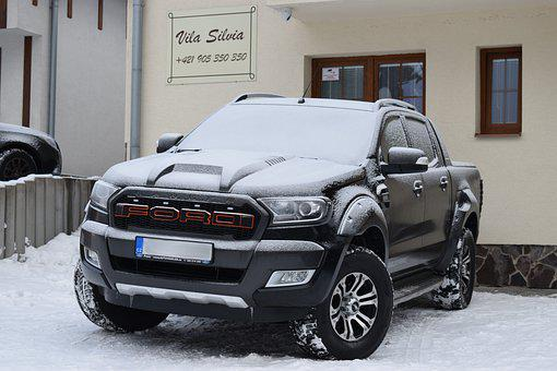Ford, Ranger, Auto, Snow, Offroad, Pickup, Covered