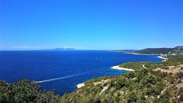 Croatia, Sea, Sky, Coastline, Beach, Boat, Sailing