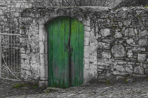 Door, Green, Old, Wooden, Architecture, Traditional