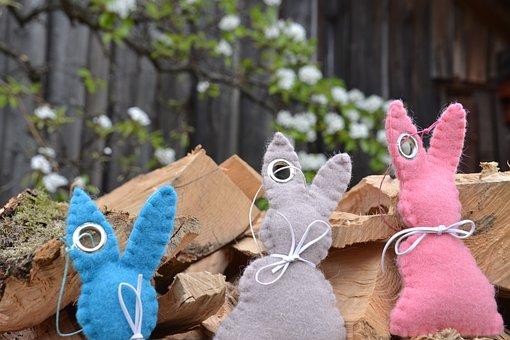 Rabbit Ears, Easter Bunny, Felt Bunnies, Felt, Easter