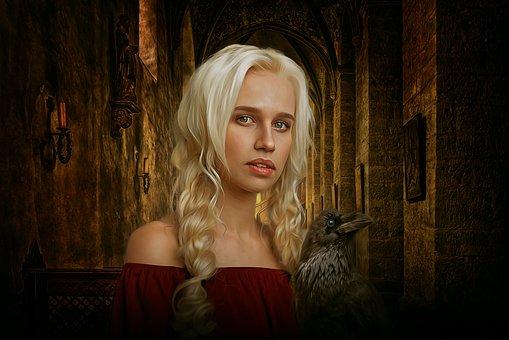 Portrait, Fantasy, Fantasy Portrait, Medieval, Female
