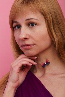 Portrait, Krupnyj Plan, Girl, Woman, Thought
