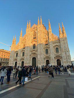 Milan, Dom, Church, Milano, Gothic, Places Of Interest
