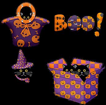 Halloween Black Cat, Cat, Black, Halloween, Witch