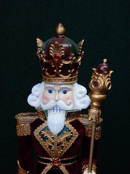 King, Nutkracker, Uniform, Crown, Beard, Male, Royal