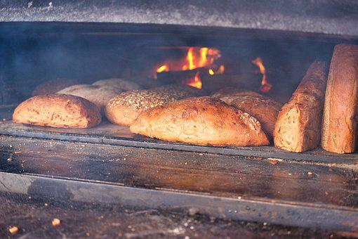 Oven, Wood Fired Oven, Bread, Bake, Food, Bakery, Baked