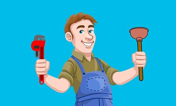 Plumber, Repair, Tools, Pipe, Plunger, Wrench, Plumbing
