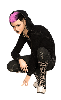 Woman, Portrait, Girl, Young People, Teen, Punk, Gothic
