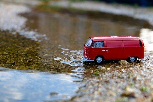 Vw, Red, Auto, Retro, Travel, Bus, Model