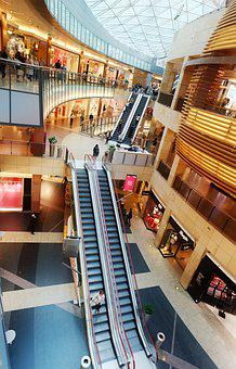 Interior, Center, Commercial, Stores, Stairs, Rolling