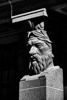 Roman, Stature, Figure, Statue, Historically, Heroic