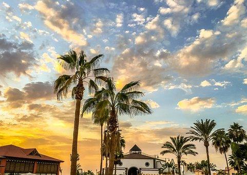 Tenerife, Spain, Landscape, Sky, Panoramic, Nature