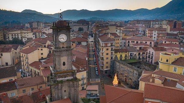 Avellino, City, Landscape, Overview, Skyline, Italy