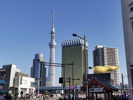 Skytree, Tokyo, Japan, Tower, Landmark, Urban